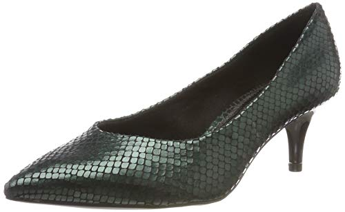 s.Oliver Damen 5-5-22402-23 Pumps, Grün (Bottle Snake 795), 39 EU