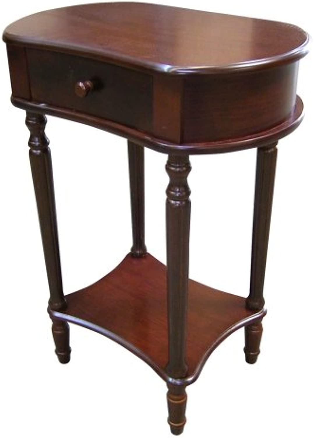 Ore International H114A Cherry Wide Side Table