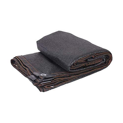 SSHA Lona Toldo Paño de Sombra de Bloqueador Solar Negro de 6 Pines, Sombra Resistente al Borde de Corte de Borde para la Cubierta de la Planta, Invernadero, Granero o Perrera Malla Sombra
