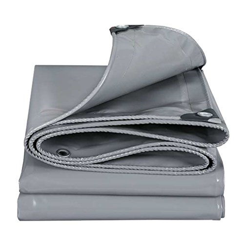 JXXDDQ Gray Tarpaulin Board Waterproof Multi-purpose Rain Disclosure Camp Fishing Gardening Sunscreen Cold, Thickness 0.45MM, 500G / M2, 14 Sizes To Choose From (Size : 2mx2m)
