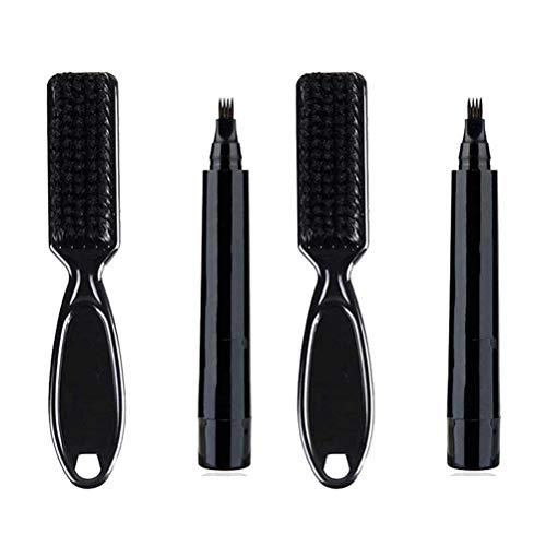 Yousir Lápiz impermeable para barba y lápiz para dibujar la barba, kit de rellenador de barba, lápiz para hombres, con pincel para peluquería, pelo facial, grabado de cejas