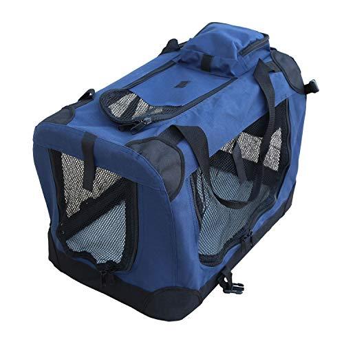 YATEK Hundetasche Faltbare Transportbox, Hundetransportbox mit seitlichen und oberen Taschen, mit hoher Sichtbarkeit, Komfort und Sicherheit für Ihr Haustier. (Größe S (49,5 x 34,5 x 35cm))