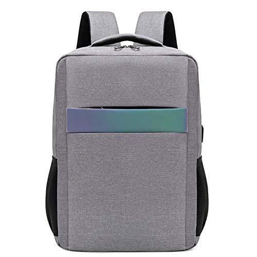 SWDZM Mochila antirrobo Impermeable, Mochila para portátil Multiusos Daypacks con Puerto de Carga USB,Gris