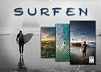 Surfen - so cool (Wandkalender 2022 DIN A2 quer): Surfen, ultimativer Funsport mit vielen begeisterten Anhaengern. (Monatskalender, 14 Seiten )
