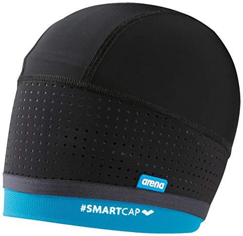 Arena W Smartcap Swimming, Cuffia Donna, Nero (Black/Turquoise), M/42