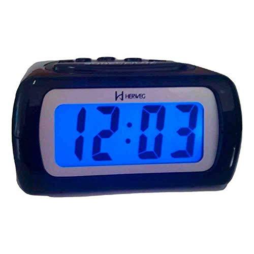 Relógio Despertador Digital Herweg 2981 034 Preto