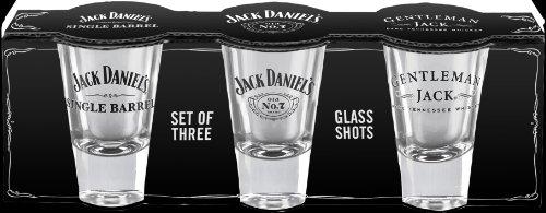 Amazon.com | Jack Daniel's Licensed Barware Shot Glass, Set of 3: Shot Glasses