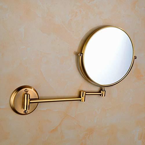 CattleBie Hänge-Hotel Vanity Spiegel Folding Beidseitige Badezimmerspiegel Grün Bronze-Spiegel (Color : Multi-Colored)