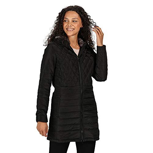 41zo9KsRa4L. SS500  - Regatta Women's Parmenia Insulated Quilted Lined Jacket With Fold Down Hood Jacket