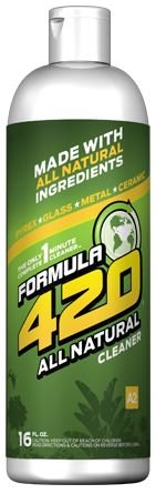 ALL NATURAL Formula 420 Pipe Cleaner - Cleans - Glass, Pyrex, Metal, Ceramic 16 Ounce