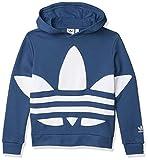 adidas Originals Kids Unisex Big Trefoil Hood Night Marine/White Large