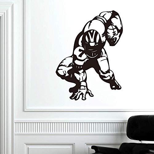 Wandaufkleber American Football Wand Vinyl Aufkleber Sport Super Bowl Aufkleber Home Abnehmbare Dekor Vinylpared Aufkleber Für Die Küchendekoration 104X74Cm
