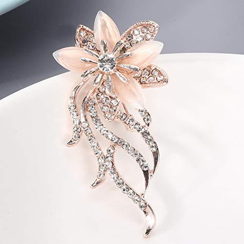 Broche de diamantes de imitación de aleación, adecuado para fiestas