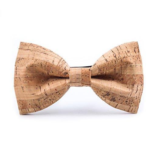 KOOWI Artigianali Cravatta Matrimonio Marito Papillon Uomo Legno per Festa di Nozze