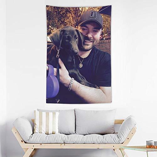 GBAR Chris Young Tapiz de pared para decoración del hogar para sala de estar colgante de pared Tapiz adecuado para colgar en la pared dormitorio dormitorio