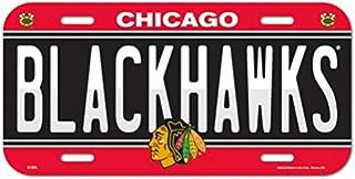 WinCraft NHL Chicago Blackhawks 6x12 Plastic License Plate