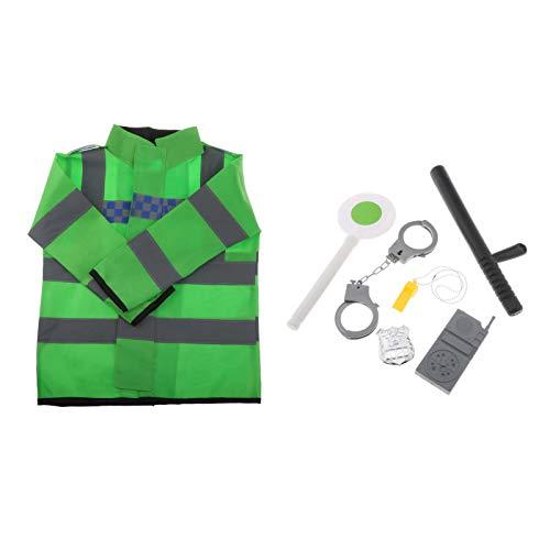 perfeclan 7 Unids/Set Disfraces de Disfraces de Rol Juego de Simulacin Kits de Polica Cosplay