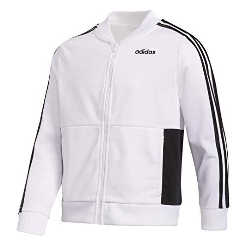 adidas Full Zip Cropped Length Bomber, XL/Tg, White
