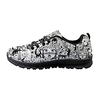 Himiko Toga Ahegao Zero Two 02 Men s Running Lightweight Breathable Casual Sports Shoes Fashion Sneakers Walking Shoes Black Sole 43