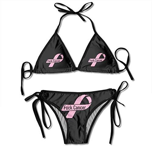Bikini Fick Brustkrebs Pink Ribbon Badeanzug Geschenkpool Sexy Urlaub Bikini Set Strand Hawaii Gemütlichen Geburtstag Unterwäsche Schönen Sommer Sexy Cosplay Badebekleidung 2 Stück