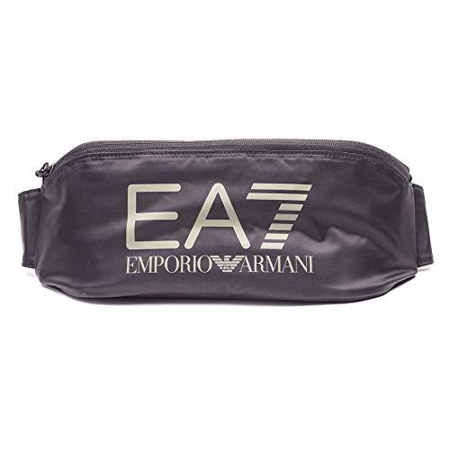 EMPORIO ARMANI EA7 Train Visibility M S 275879 Bolso pequeño/Cartera de Mano Hombres Negro/Gris - única - Bolso Banana