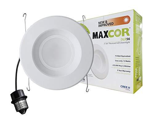 NICOR Lighting 5/6-Inch 3000K LED Downlight Retrofit Kit for Recessed Housings, White Trim (DLR56-20-120-3K-WH)