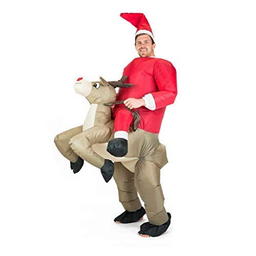 Bodysocks Costume Gonfiabile da Renna per Adulti