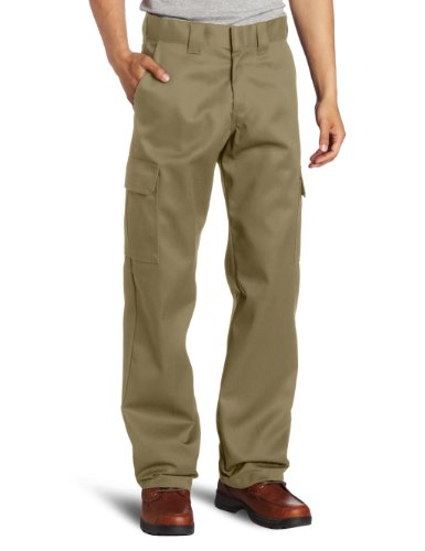 Dickies Men's Relaxed Straight-Fit Cargo Work Pant, Desert Sand, 40W x...
