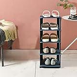 Utapossin Zapatero Modular, 4 Niveles Organizador Zapatos Estantería, Zapatero Cubos, Apilable, Ahorra Espacio, Almacenaje Zapato, Multifuncional, para el Pasillo, Sala de Estar (Azul)