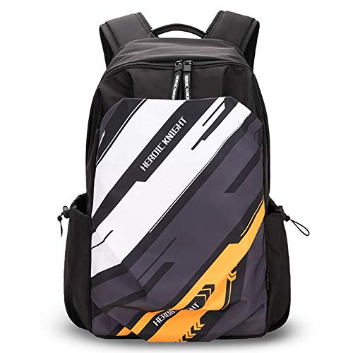 male backpack for schools HK College School Bag Laptop Backpacks for Men Women Black Big Cool Waterproof Travel Pack High School Students Boys Girls Teens