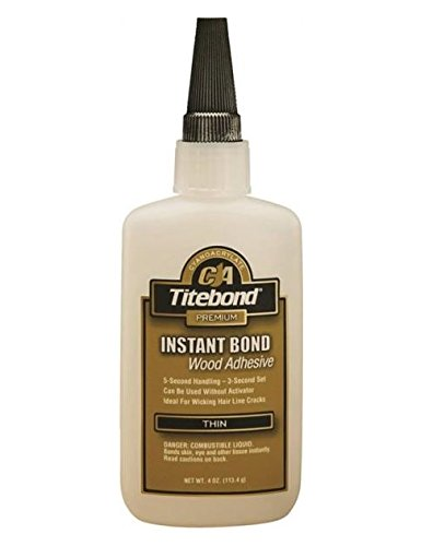 Titebond Instant Bond 6202 Thin Wood Adhesive, 4 oz Bottle, Clear