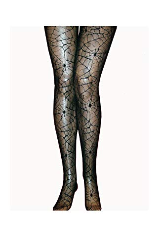 K84250756-S-M schwarz Damen Spinnen-Netz Strumpfhose Halloweenkostüm Gr.S-M