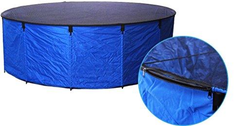 AQUAFORTE Bac Flexi Bowl Pliable Diam/ètre 90/x 60 Bleu avec Filet de Protection pour et Pochette Pratique