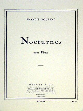 NOCTURNES - arrangiert für Klavier [Noten / Sheetmusic] Komponist: POULENC FRANCIS