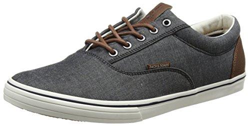 JACK & JONES Herren JFWVISION Chambray Mix SS Sneaker, Grau (Anthracite), 42 EU