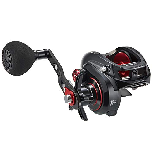Piscifun Alijos Size 300 Baitcasting Reels Low Profile Baitcaster Aluminum Frame Baitcast Fishing Reel, 33lb Drag 5.9:1 Gear Ratio Freshwater Saltwater Power Handle Casting Reels (Right Handed)