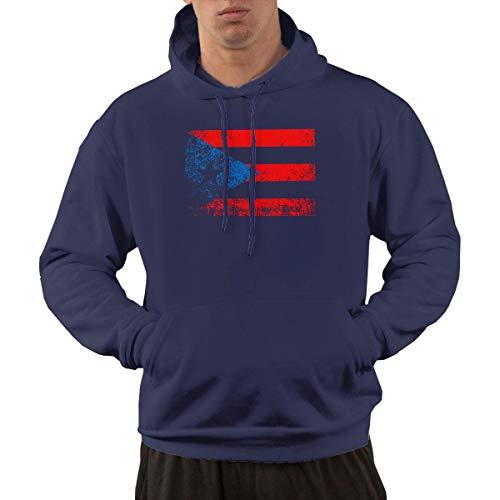 shenguang Puerto Rico Flag Herren Hoodie Vintage Hooded Sweatshirts