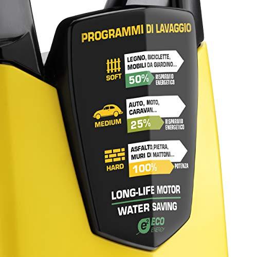 Lavor STM 160 WPS PLUS - Idropulitrice ad alta pressione, 2500 W, 230 V, 160 bar max, 245 EWbar max, 510 l/h max, Giallo/Nero