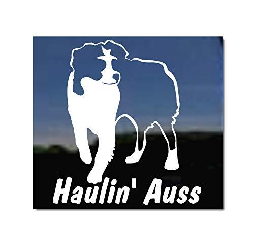 Haulin Auss ~ Australian Shepherd Aussie Window Decal Sticker
