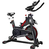 pooboo Exercise Bike, Belt Drive Indoor Cycling Bike, Stationary Bike LCD Display for Home Cardio Workout Bike Training