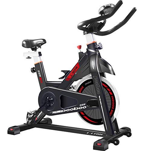 pooboo Exercise Bike, Belt Drive Indoor Cycling Bike, Stationary Bike LCD Display for Home Cardio Workout Bike Training
