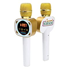 Now you can recreate the fun of your favorite James Cordon carpool karaoke videos Quick wireless connection to any car's FM tuner or via aux cord Bluetooth stream audio from any music or karaoke app Built-in long-lasting rechargeable battery for hour...