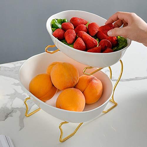 XHHXPY Cesta de Frutas De Cerámica Multifunción en el Salón Estante de...