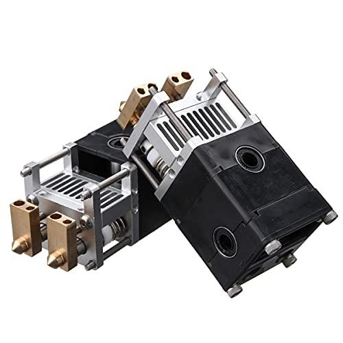Ultimaker UM2 - Kit estrusore a doppia testa in lega di alluminio OverTop 3D per ugello da 0,4 mm, 1,75/3 mm, 3 - # 1