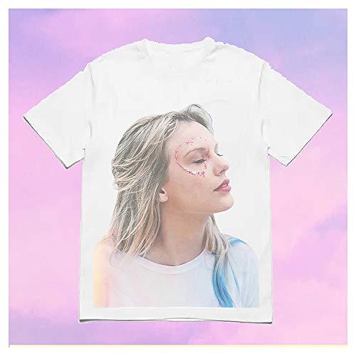 XXW Album Surrounding White Foto T-Shirt Taylor Swift Rundhalsausschnitt Kurzarm Halbarm Kleidung Sommer