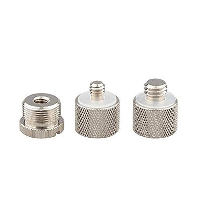 CAMVATE Microphone Screw Adapter 1/4 male to 5/8 female & 3/8 male to 5/8 female & 1/4 female to 5/8 male