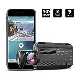 【進化版】ドライブレコーダー 360度 全方位 広角ドラレコ WiFi搭載 + GPS機能 2160P Full HD 500万画素 G-センサー SONYセンサ 常時録画 駐車監視 WDR機能 (ドライブレコーダー 前後カメラ)