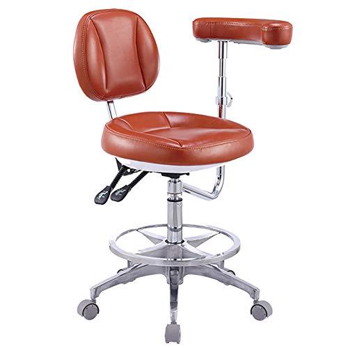 MG-GRD Pu Leder zahnarzt hocker Arzt Stuhl Krankenschwester hocker zahnarztstuhl bürostuhl schönheit Stuhl, 360 ° drehung, höhenverstellbar