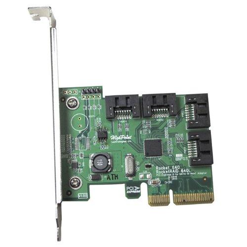 HighPoint Rocket 640L Lite Version 4-Port PCI-Express 2.0 x4 SATA 6Gb/s RAID Controller