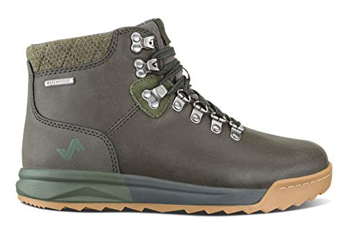 Forsake Patch - Women's Waterproof Premium Leather Hiking Boot (8.5 M US, Grey/Cypress)